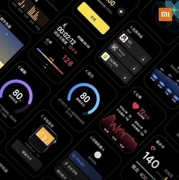 Xiaomi Mi Watch UI