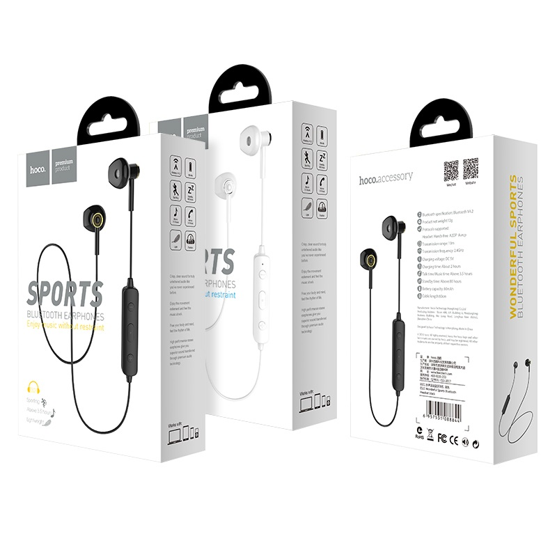 "Auriculares inalámbricos Auriculares ""ES21 Wonderful sports"" Negro"