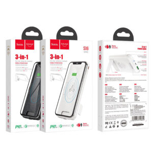 "Power bank ""S16 Energy lake"" de carga inalámbrica 10000mAh PD Blanco"